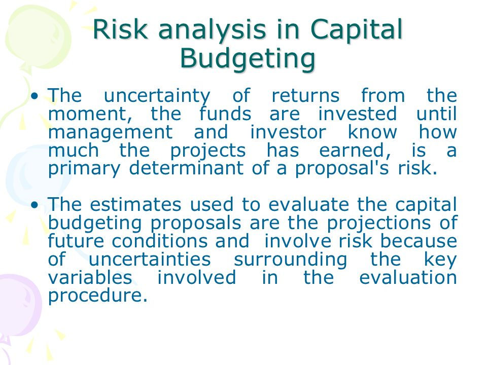 capital budgeting analysis The most prevalent emphasis of previous capital budgeting surveys continues to  be mainly on financial analysis and project selection stage of capital budgeting.