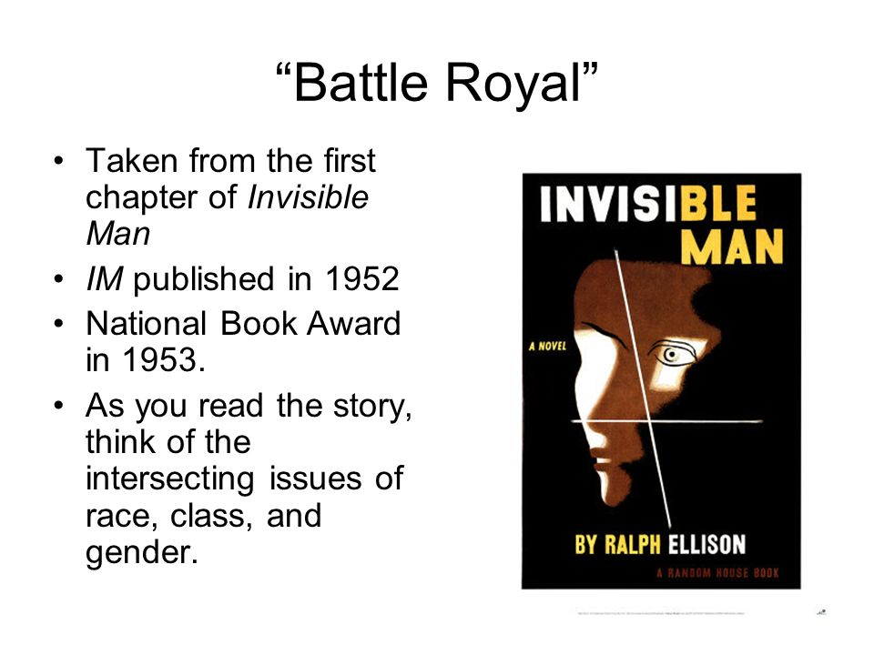 "ralph ellison ""battle royal"" ppt  4 ""battle"