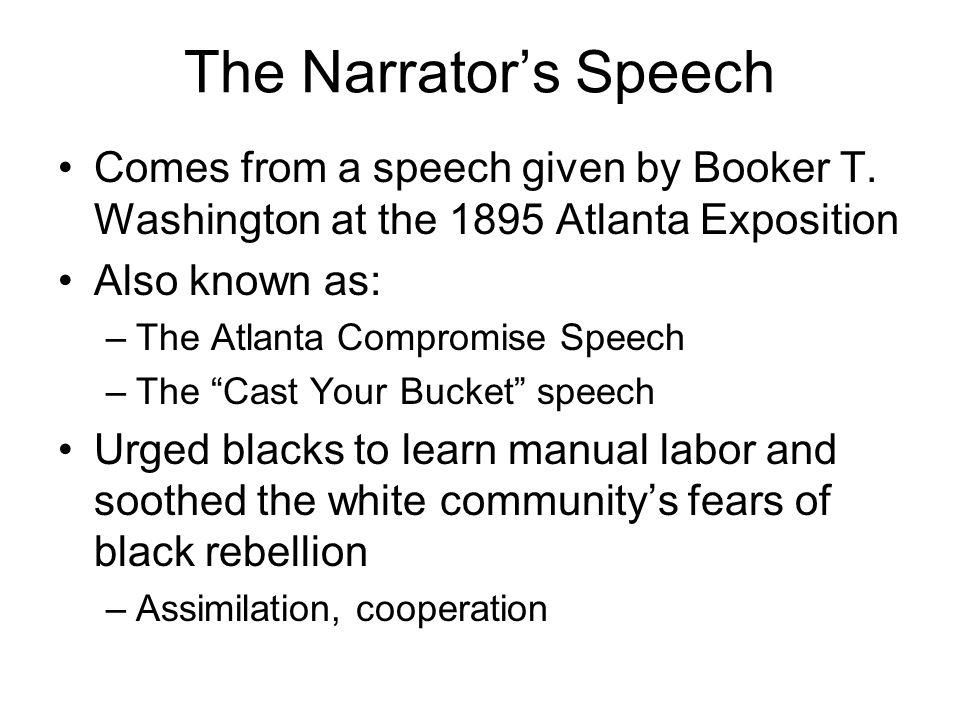 an examination of the atlanta exposition address Subject: his address is a warning to african americans not to engage in any form of protest to secure their civil rights and equality with their white neighbours the wisest among my race understand that the agitation of questions of social equality is the extremest folly.