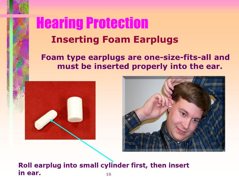how to use foam earplugs