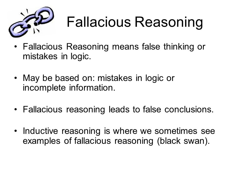 An Introduction to Logic And Fallacious Reasoning - ppt ...