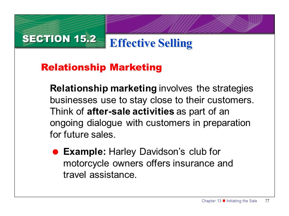 relationship marketing and selling