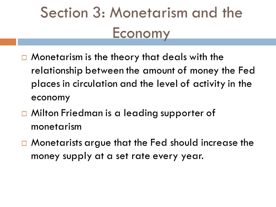 monetarists argue that the relationship between inflation