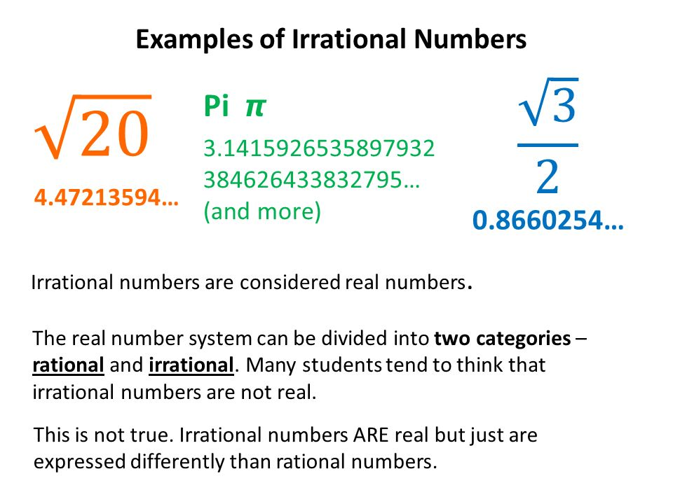 Classification of the Real Number System - ppt video ...