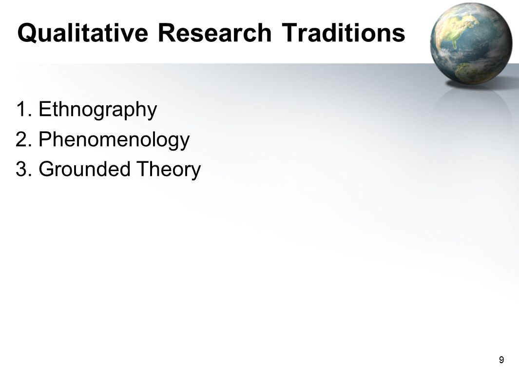 phenemenology ethnography and grounded theory Main difference – grounded theory vs ethnography grounded theory and ethnography are two qualitative research methodologies grounded theory, developed by barney glaser and anselm strauss, is a methodology that involves developing theory through the analysis of data.