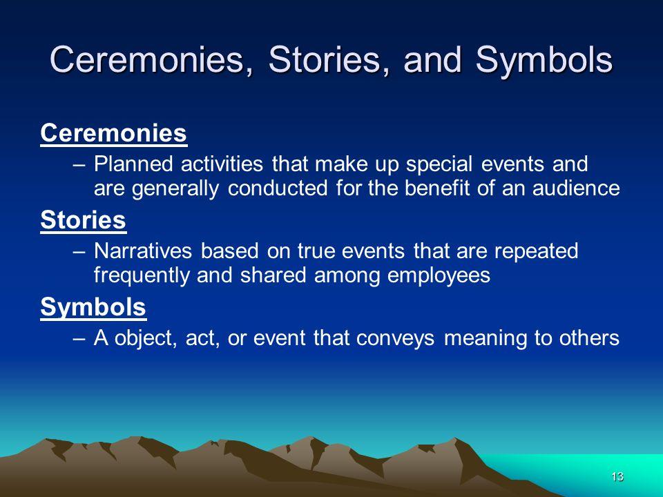 Ceremonies, Stories, and Symbols