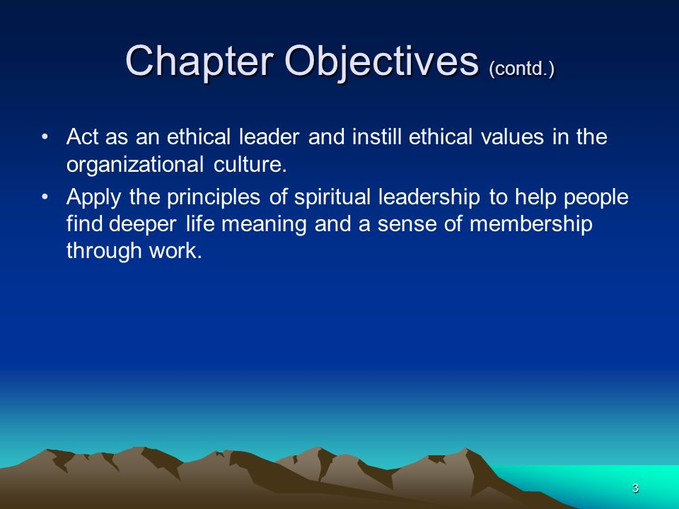 Chapter Objectives (contd.)