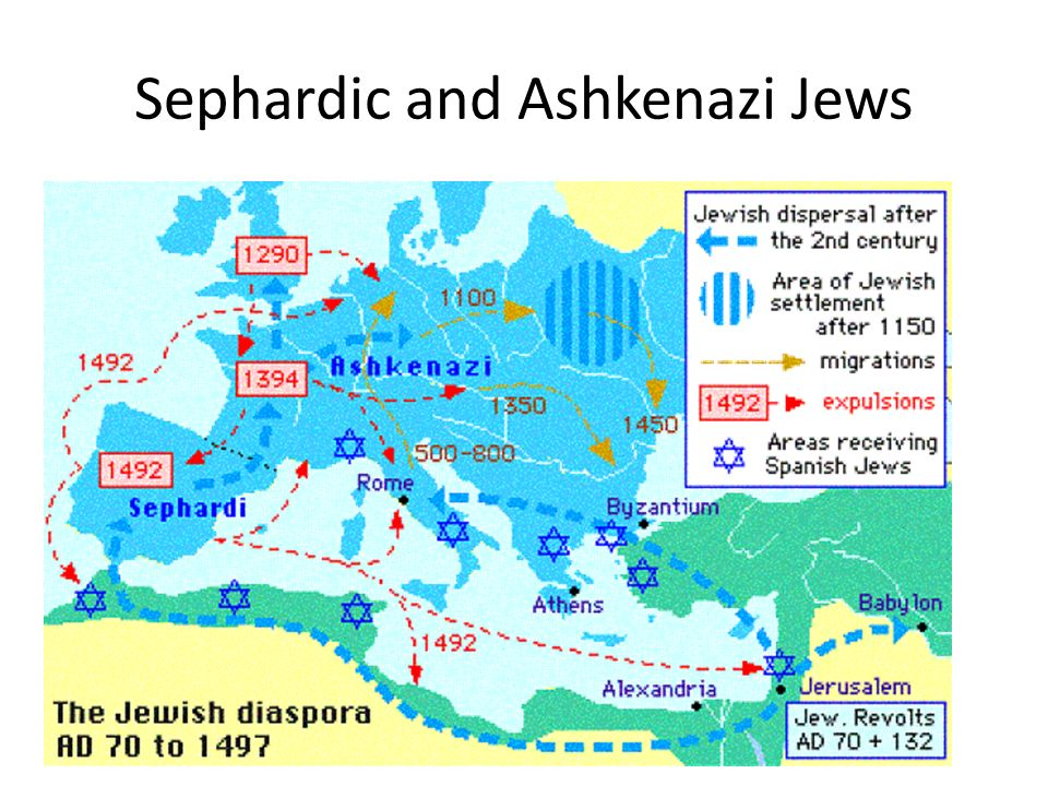Essay/Term paper: Difference between sephardic and ashkenazi jews in modern times