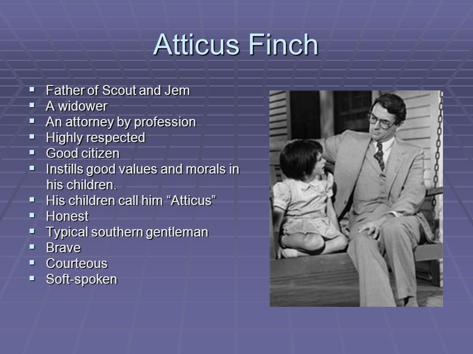 character of atticus finch to kill In the years after harper lee published to kill a mockingbird in 1960, the beloved, moral patriarch atticus finch became a cultural icon some people w.