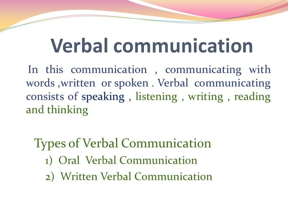 verbal and non verbal communication ten weeks