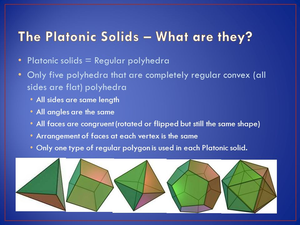 platonic solids essay essay Essays from bookrags provide great ideas for neoplatonism essays and paper topics like essay view this student essay about neoplatonism.