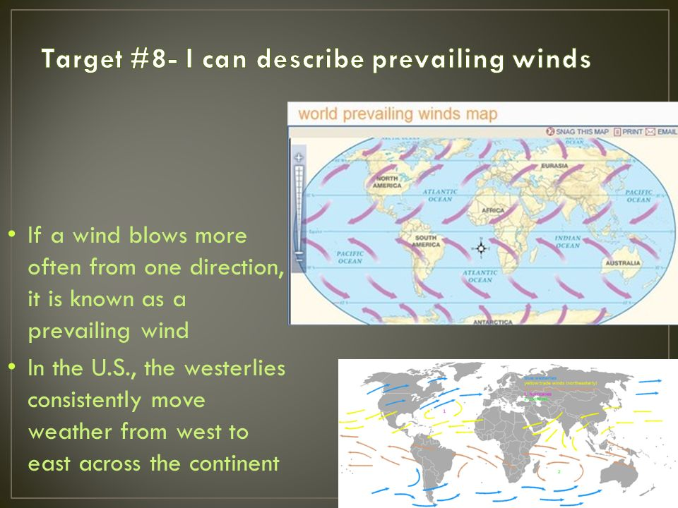 Target 8 I Can Describe Prevailing Winds