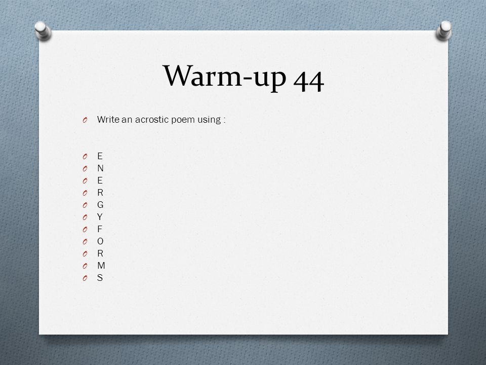 Warm Up 1 What Should You Do At The Beginning Of Each