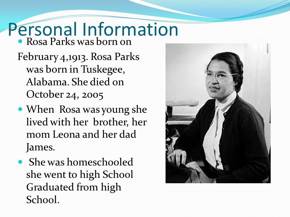 Rosa parks info