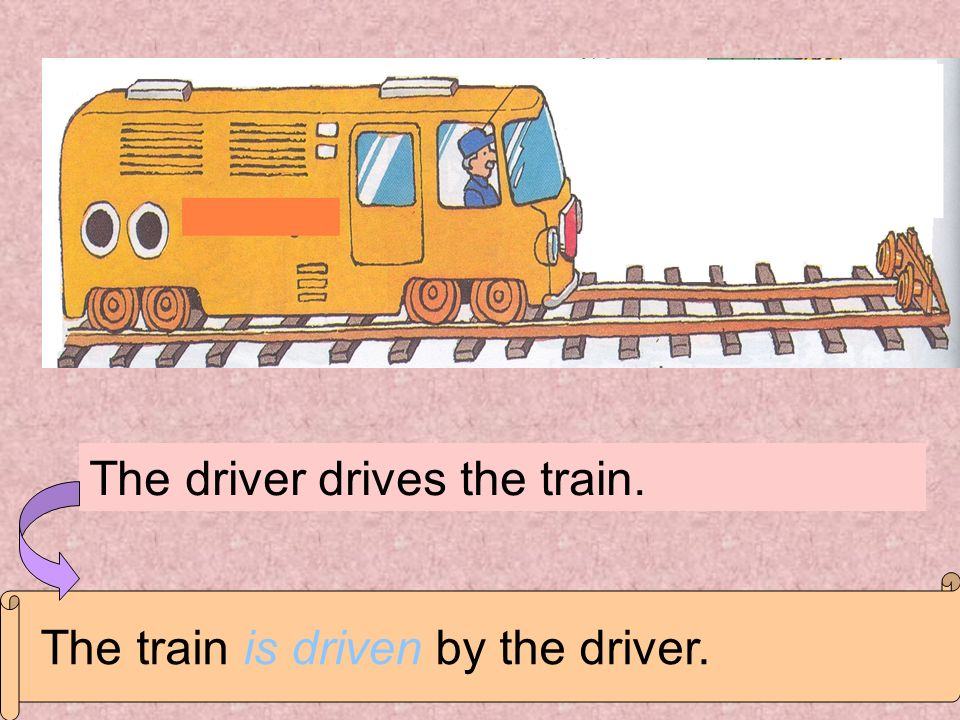 The driver drives the train.