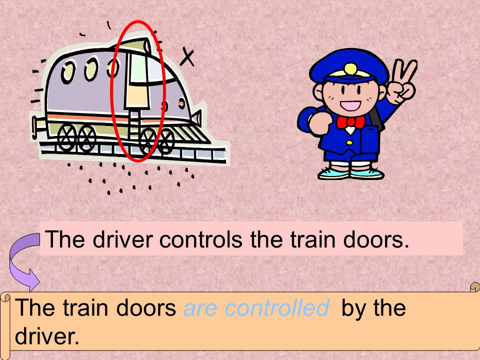 The driver controls the train doors.