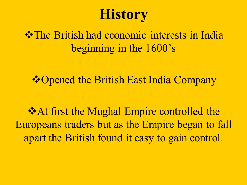 the history of the british east india company The east india company was a private company which, after a long series of wars and diplomatic efforts, came to rule india in the 19th century chartered by queen elizabeth i on december 31, 1600, the original company comprised a group of london merchants who hoped to trade for spices at islands in .