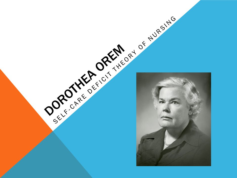 dorothea orem nursing model