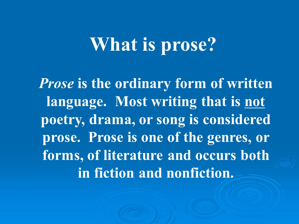 difference between prose and poetry essay What are some examples of prose pieces a: what is the difference between a book and a novel prose poetry is an amalgamation of poetic qualities such as.