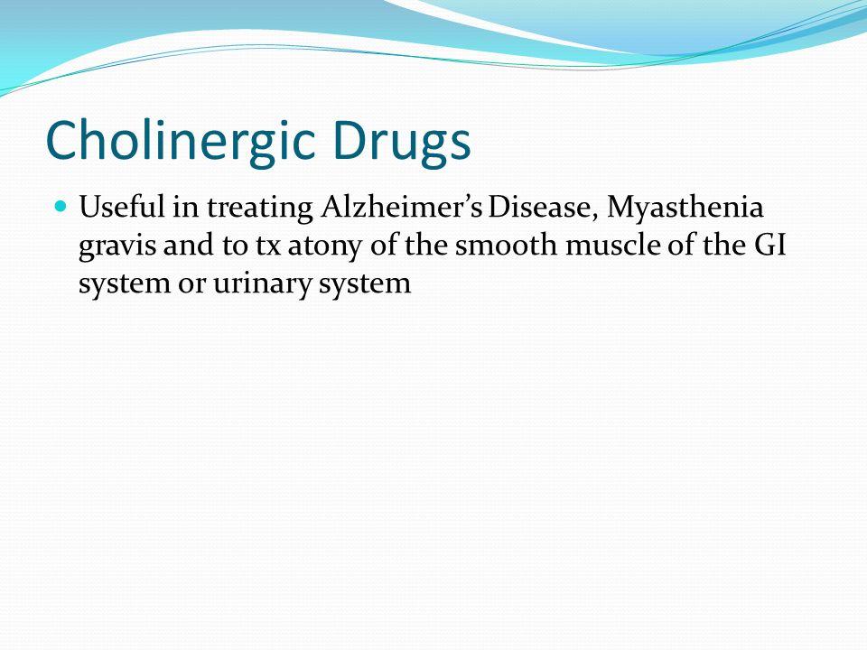 Cholinergic drugs. - ppt download