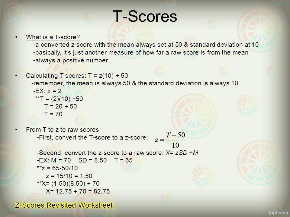 Chapter 4 5 The Normal Curve z Scores ppt video online download – Z Score Practice Worksheet