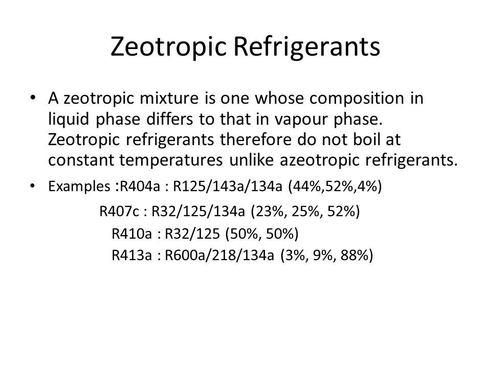 Zeotropic Refrigerants