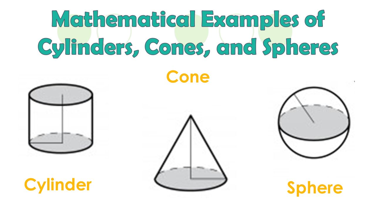 worksheet Volume Of Cylinders And Cones Worksheet volume of cylinders cones and spheres ppt download 3 mathematical examples spheres