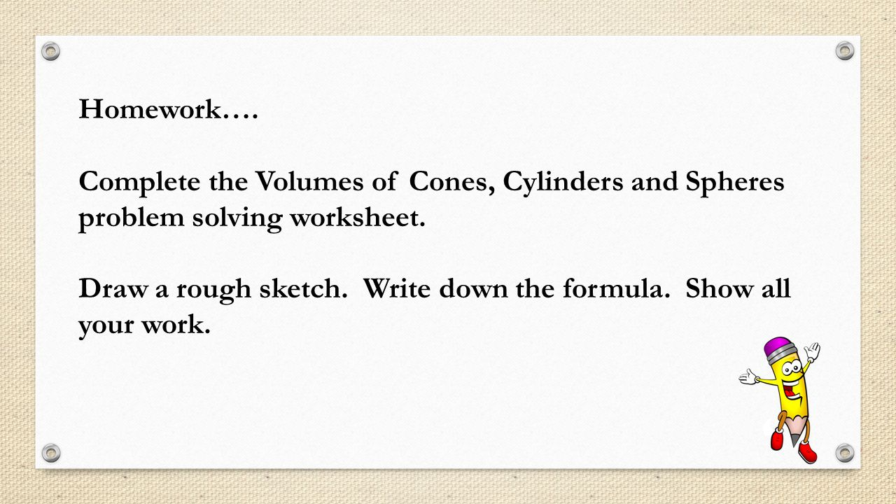 VOLUME OF SPHERES ppt download – Cylinder Volume Worksheet