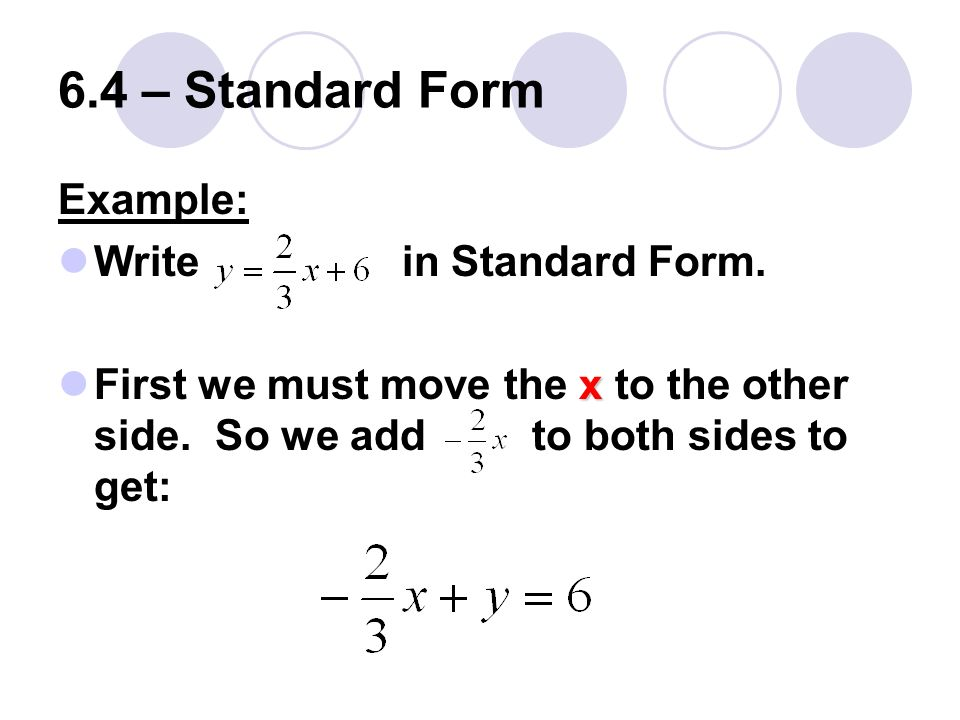 How To Get Standard Form Dolapgnetband
