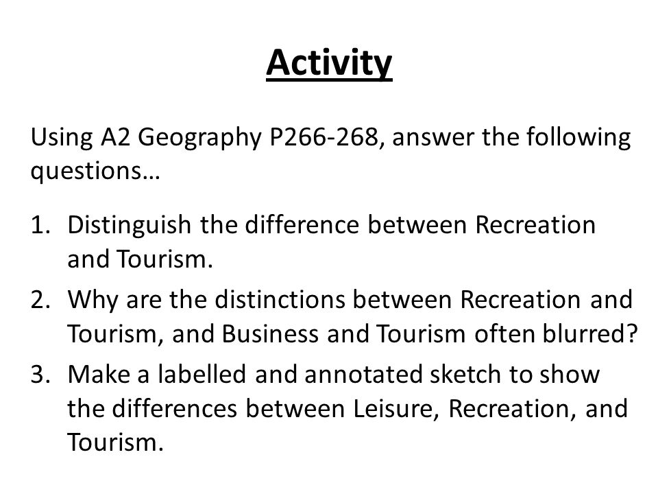 defining leisure and recreation essay