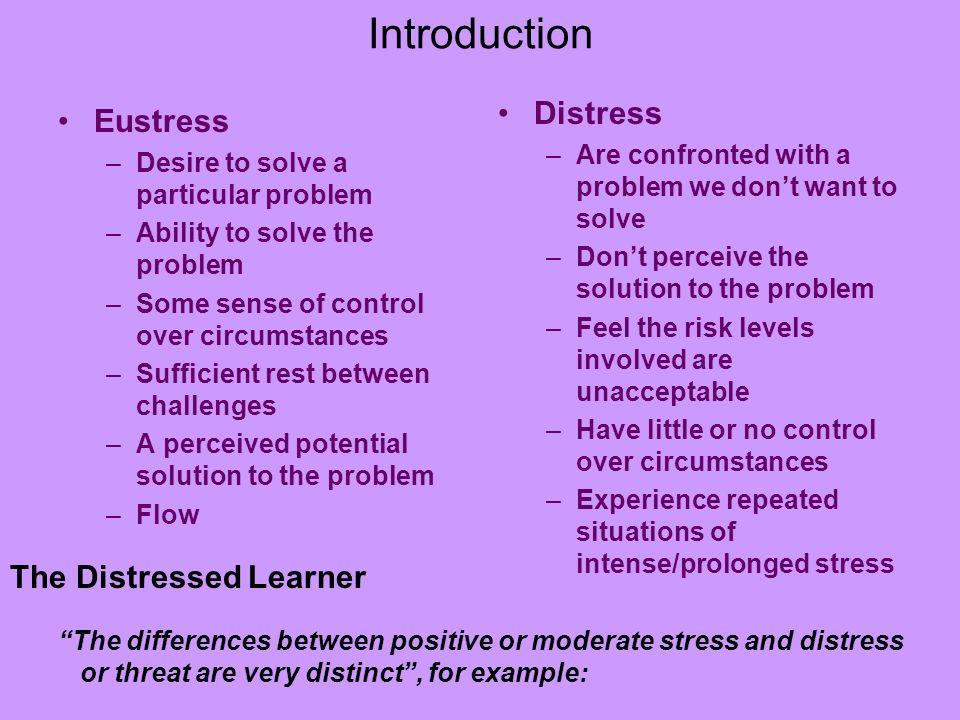 stress eustress und distress