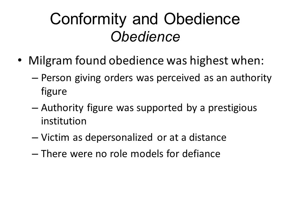 social conformity obedience Obedience conformity and obedience are two forms of social behavior and  influences that are evident in human interactions and group.