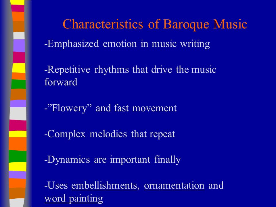 The baroque music period ppt video online download for What are the characteristics of baroque period