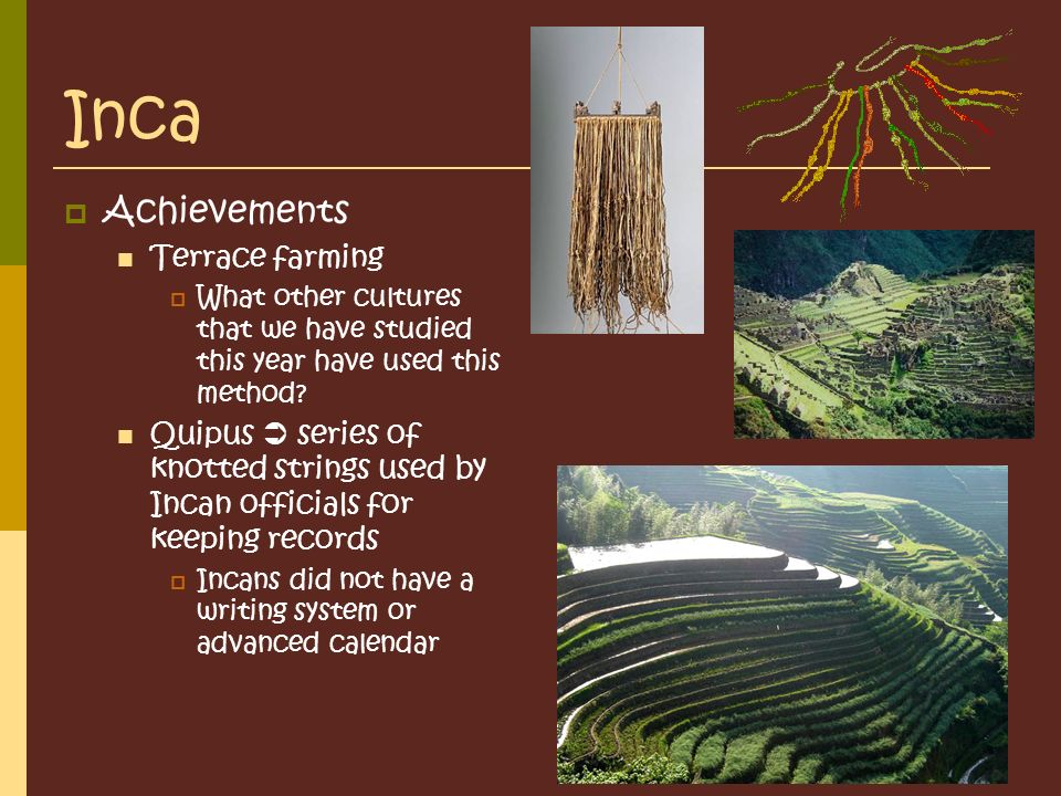Mesoamerican cultures maya aztec inca ppt video for Terrace farming meaning