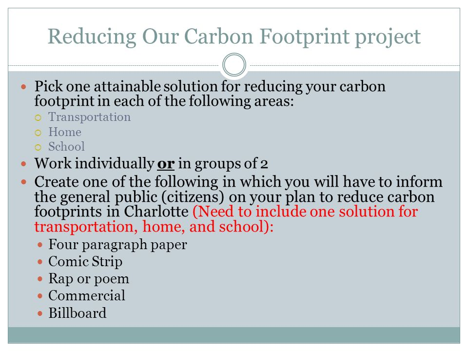 reducing our carbon footprints essay  · check out our top free essays on reducing your carbon footprint to help you write your own essay.