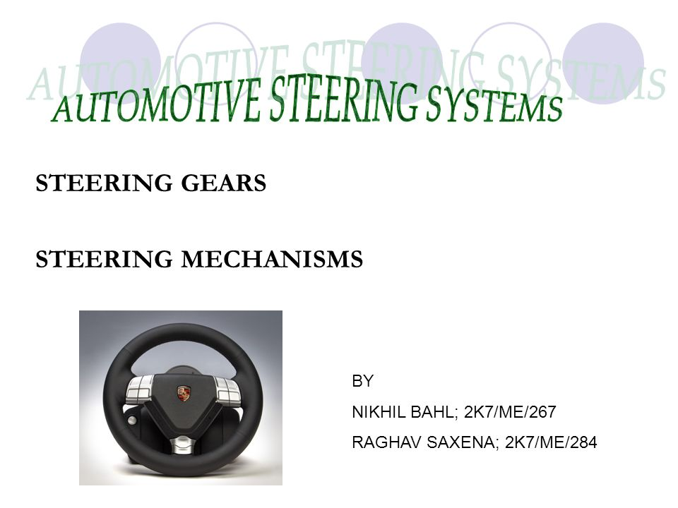 automotive steering systems According to the automotive steering systems market survey report, the market is expected to witness a relatively higher growth rate during the forecast period 2018-2023.