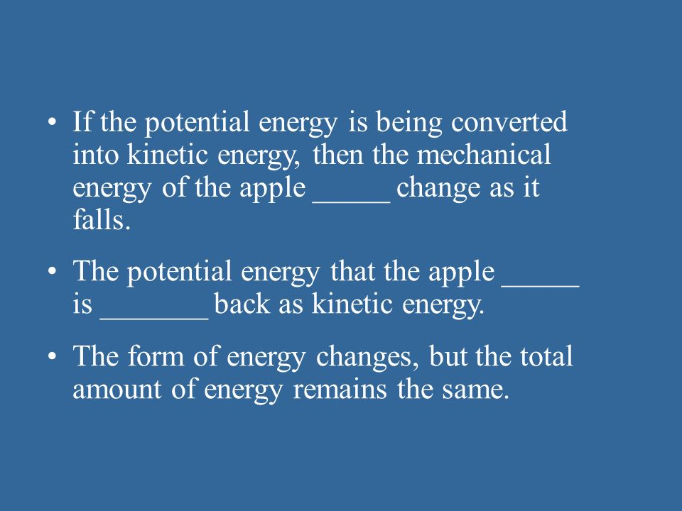 OBJECTIVES 04-1 Distinguish between kinetic and potential energy ...