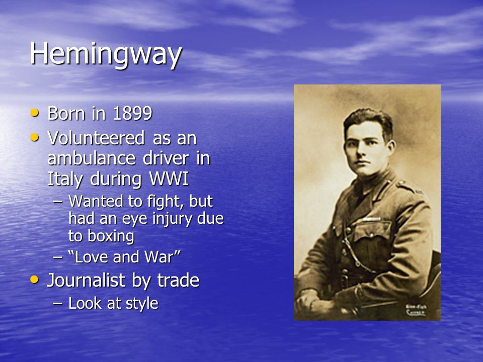 the hemingway hero Ernest hemingway faq from a biography of ernest hemingway's life to a discussion of the hemingway code hero, the ernest hemingway faq provides information on the life and literature of one of the greatest writers of the 20th century.