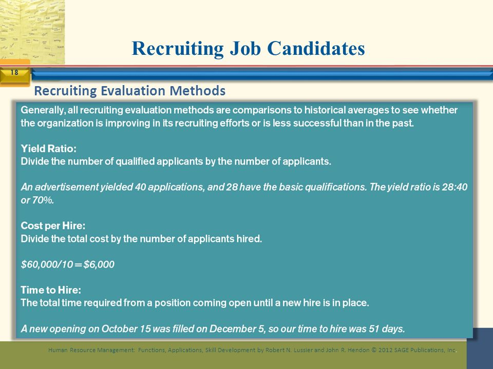 hr evaluating the recruiting function