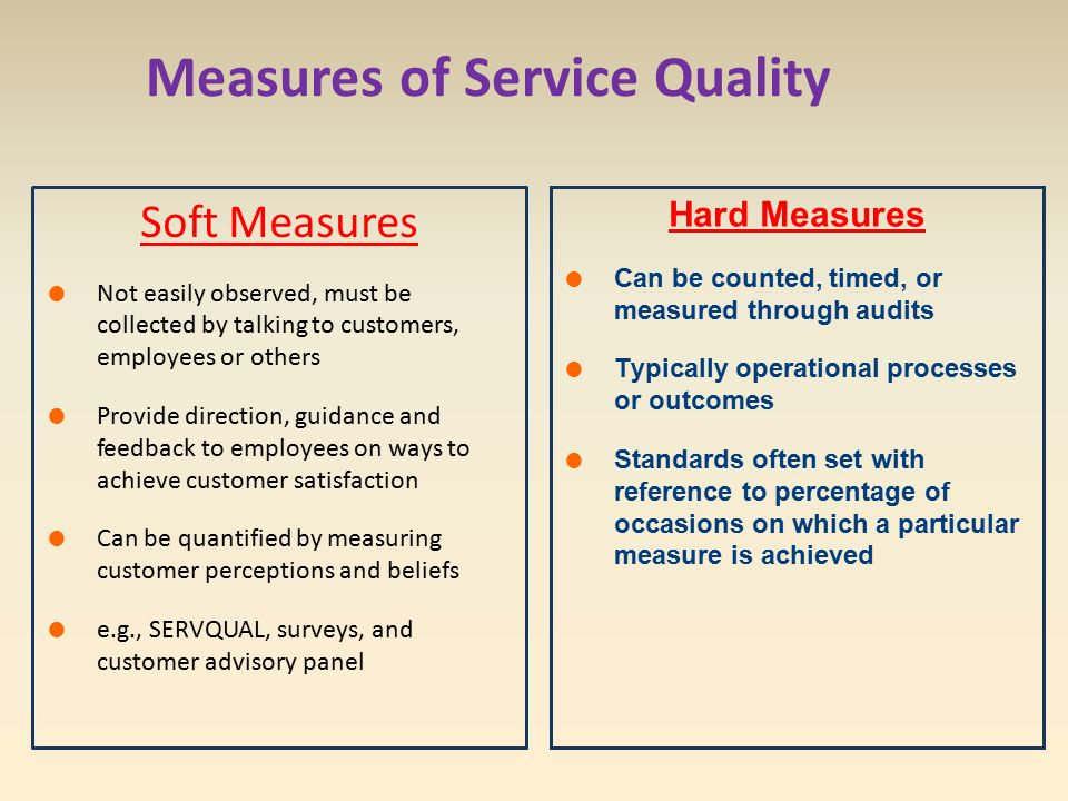 explain how quality can be measured You can explain what is quality, as the closeness to a specified need or  expectation quality is an indicator of how accurate a result is to the target.