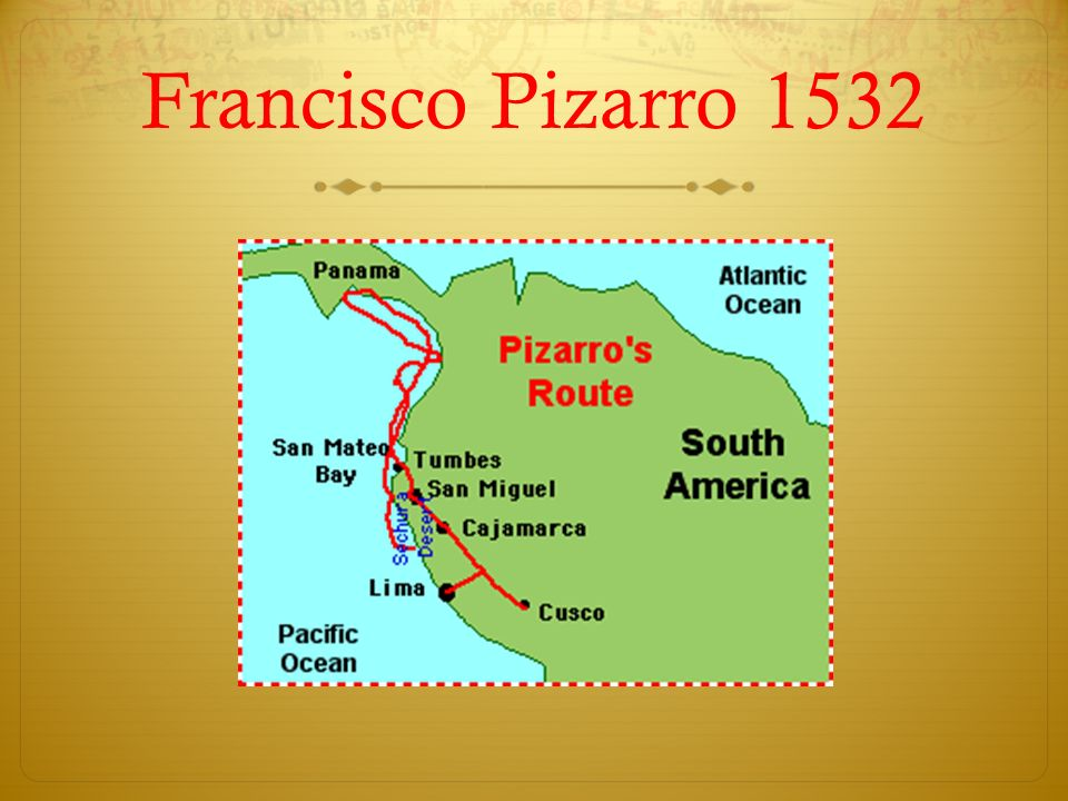 S Francisco Pizarro Exploration Route: Age Of Discovery: Mapping Activity