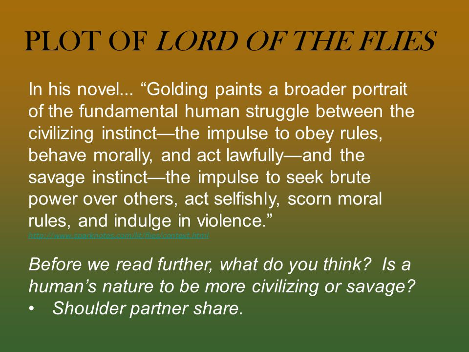 A structural analysis of lord of the flies a novel by william golding