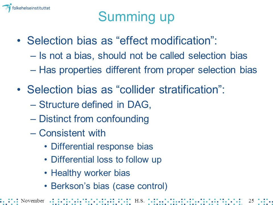 how does selection bias impact the results of a case control study Institute for the study of labor testing for selection bias  endogenous selection can make it difficult to identify the impact  a special case of control.