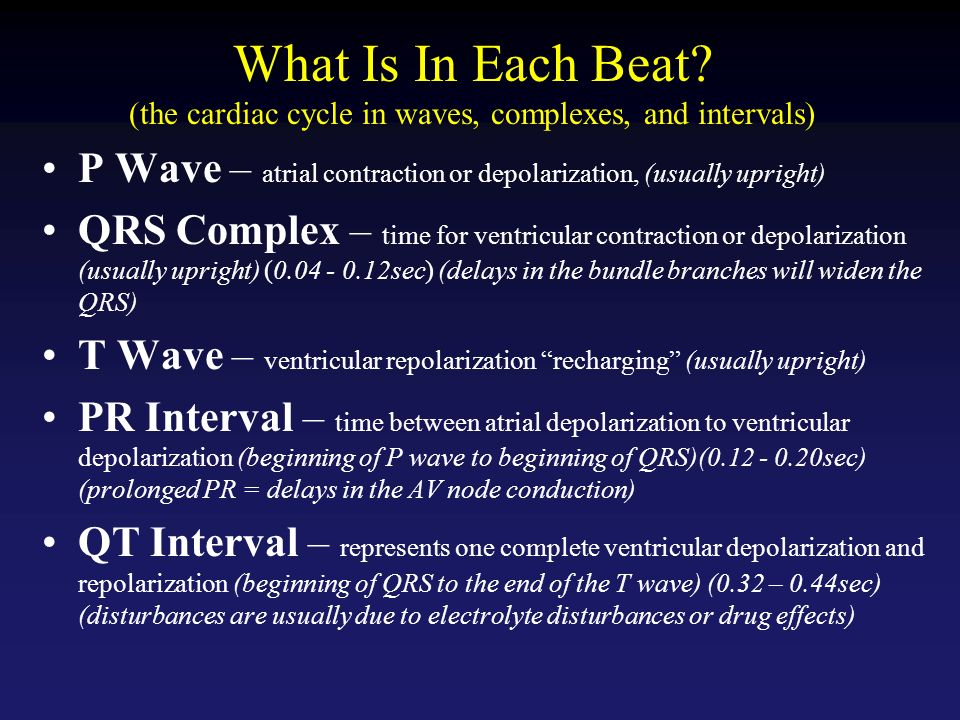 describe the relationship between ecg qrs complex and beginning of ventricular contraction