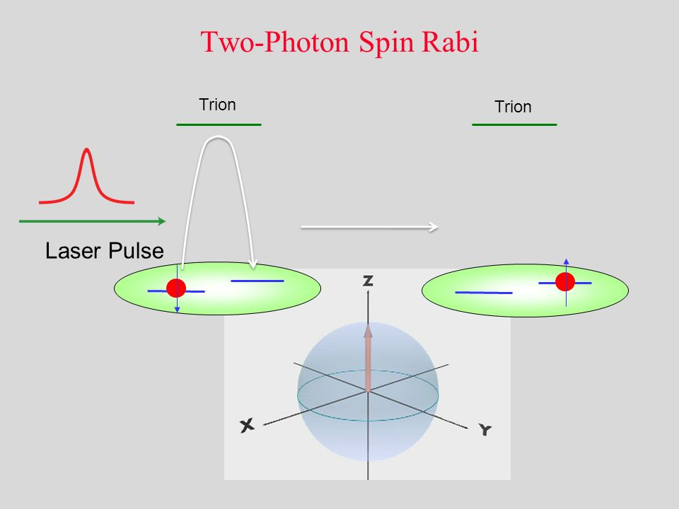 Two-Photon Spin Rabi Trion Trion Laser Pulse