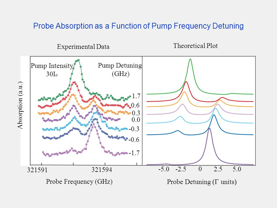 Probe Absorption as a Function of Pump Frequency Detuning