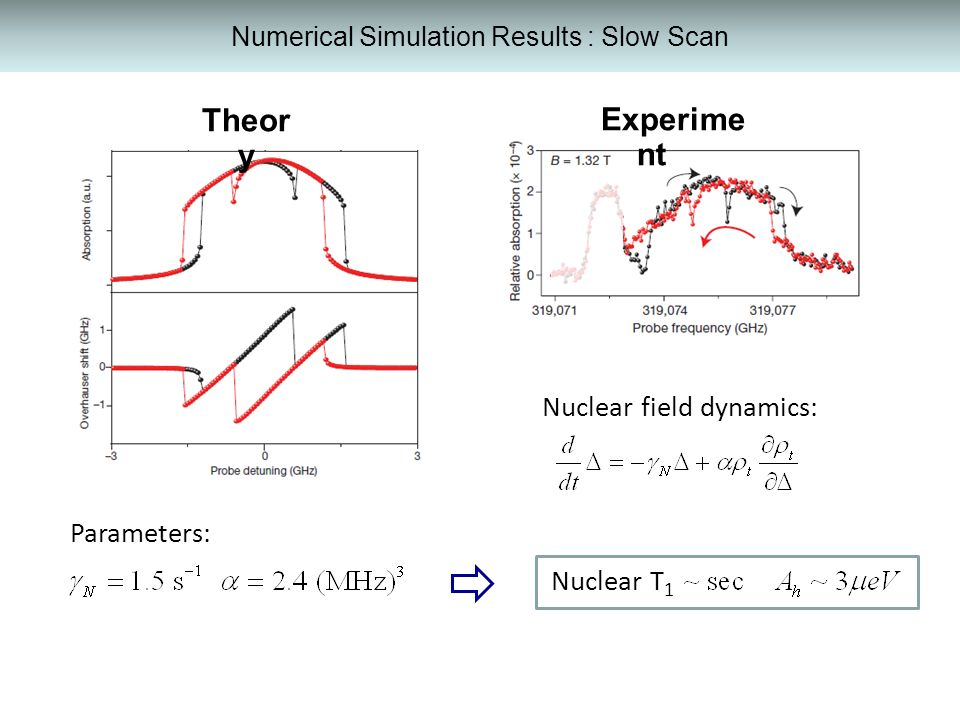 Numerical Simulation Results : Slow Scan