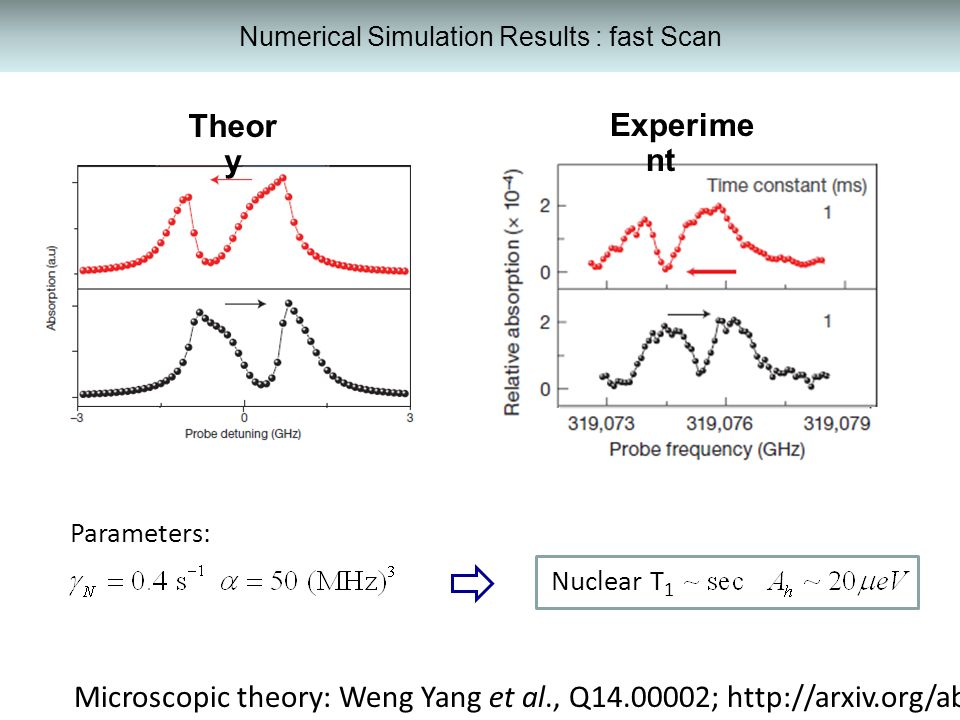 Numerical Simulation Results : fast Scan