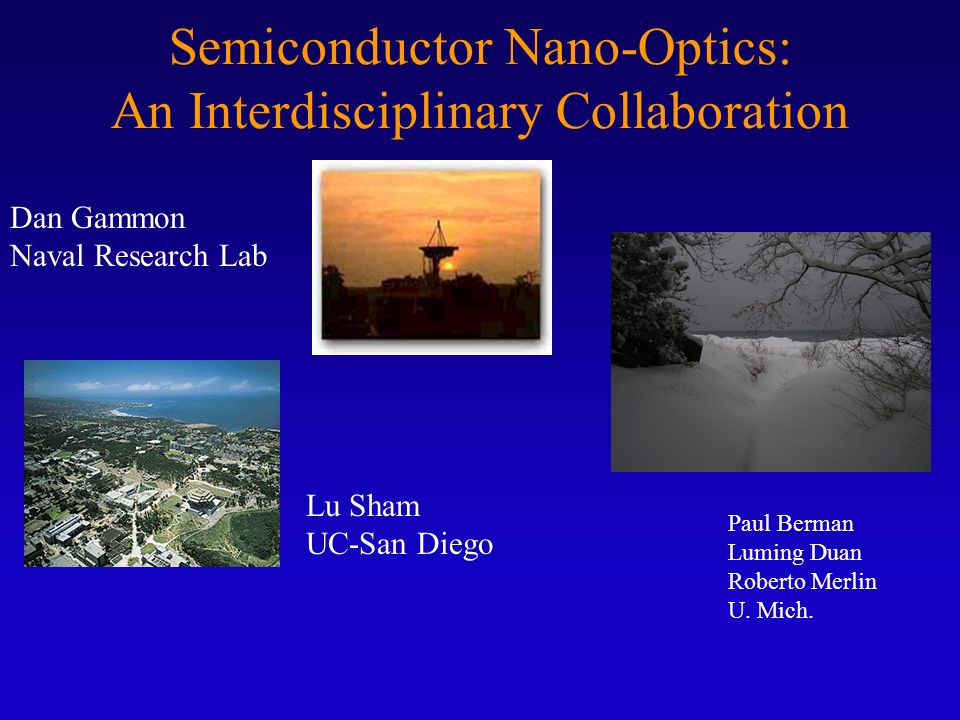 Semiconductor Nano-Optics: An Interdisciplinary Collaboration