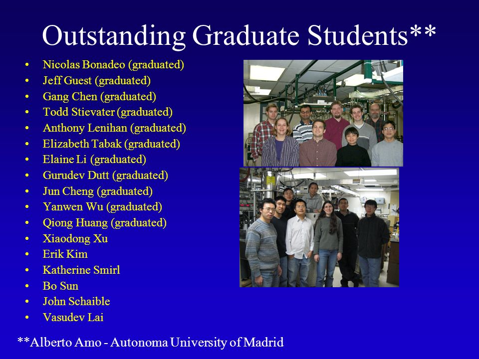 Outstanding Graduate Students**